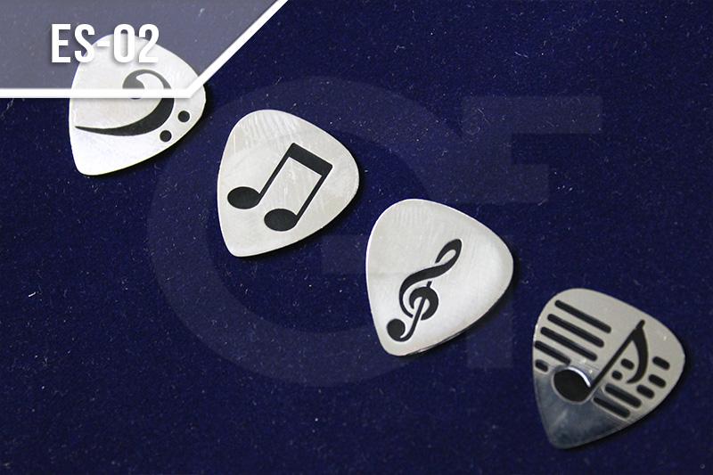 Escudos de solapa en medellín personalizados, notas músicales