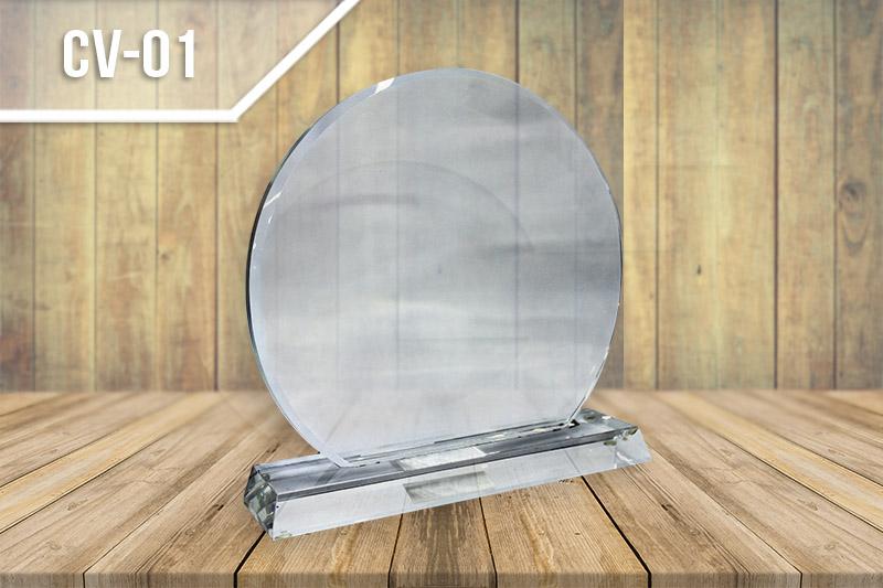 Estatuilla en vidrio y cristal para reconocimiento