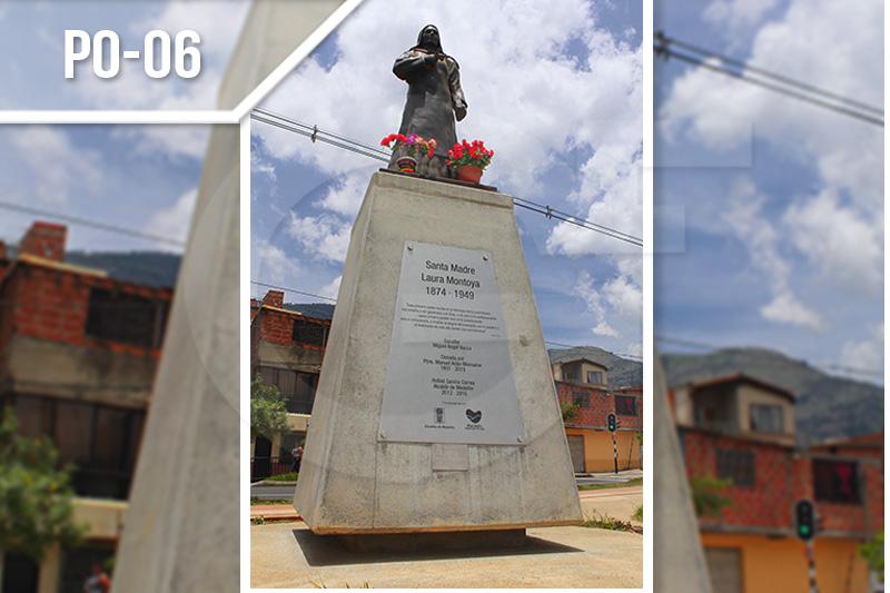 Placas de obra fotograbadas en acero en Medellín