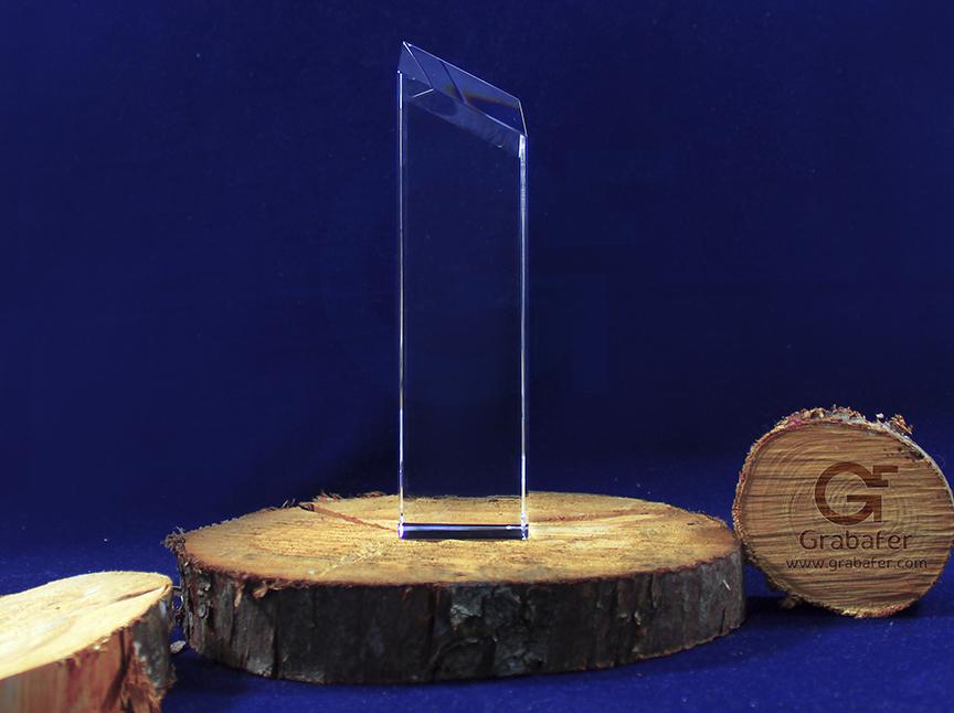 Estatuilla en vidrio para grabar en láser - Estatuillas grabadas en láser